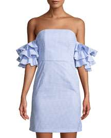 StyleKeepers The Malibu Ruffle-Tiered Off-The-Shoulder Dress