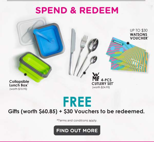 Spend and redeem gifts + vouchers