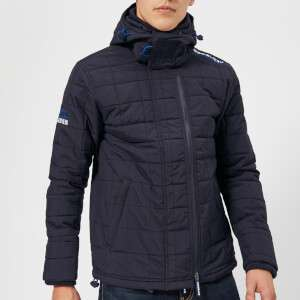 Superdry Men's Hood Quilt Athletic Windcheater Jacket - Deep Marine/Code Blue