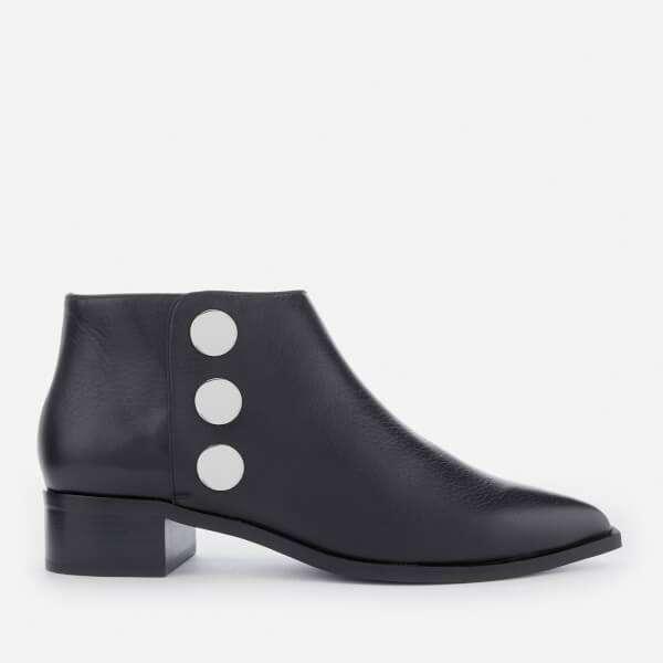 Senso Women's Lionel Grained Leather Flat Ankle Boots - Ebony