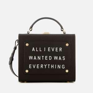 meli melo Women's Art Bag with Text - Black