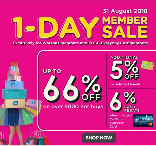 Members 1 Day Sale on 31 August
