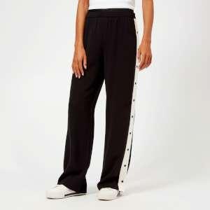 Karl Lagerfeld Women's Wide Leg Logo Sweatpants - Black
