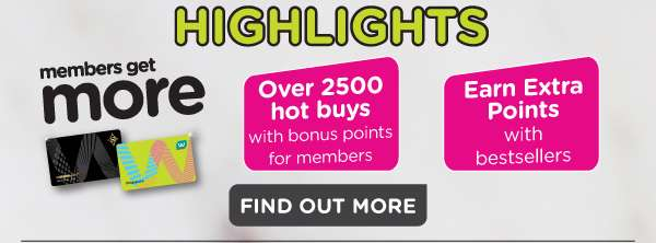 Earn extra points on products