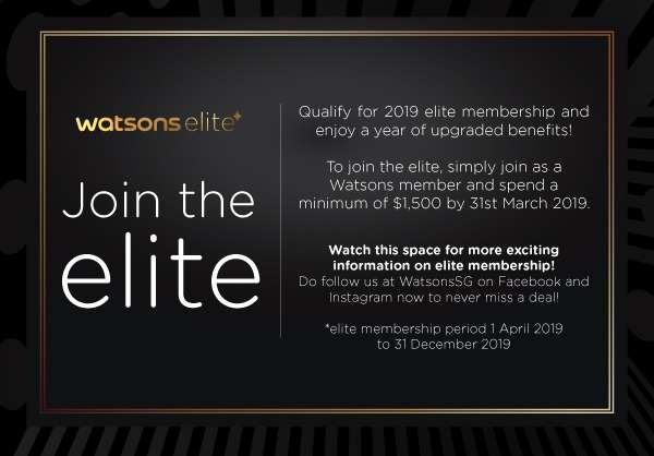 Spend $1500 by 31 March 2019 to qualify as 2019 elite member.