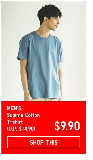 Limited Offer! Men's Supima Cotton Short Sleeve T-shirt at $9.90
