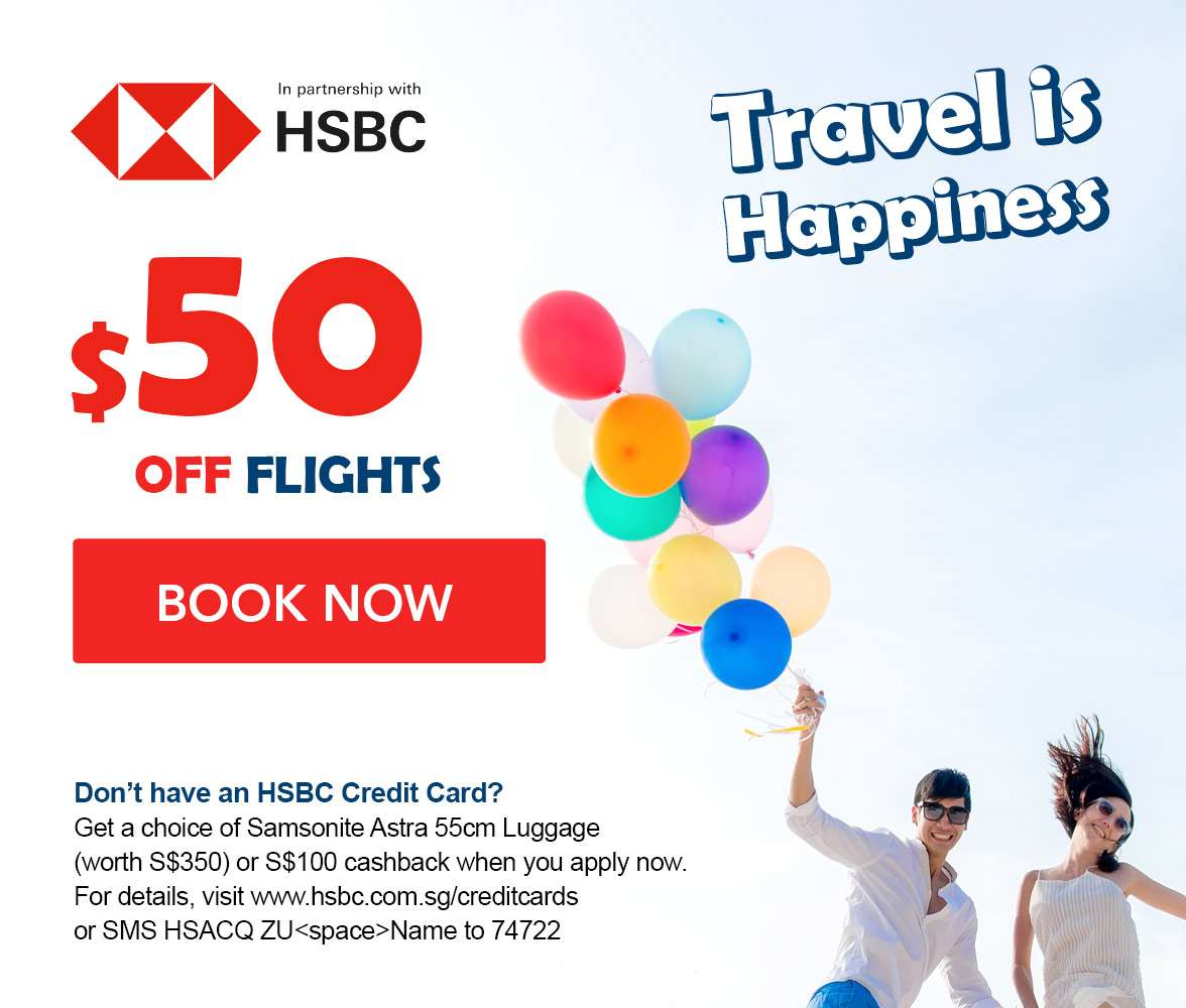 $50 OFF flights with a minimum spend of $500