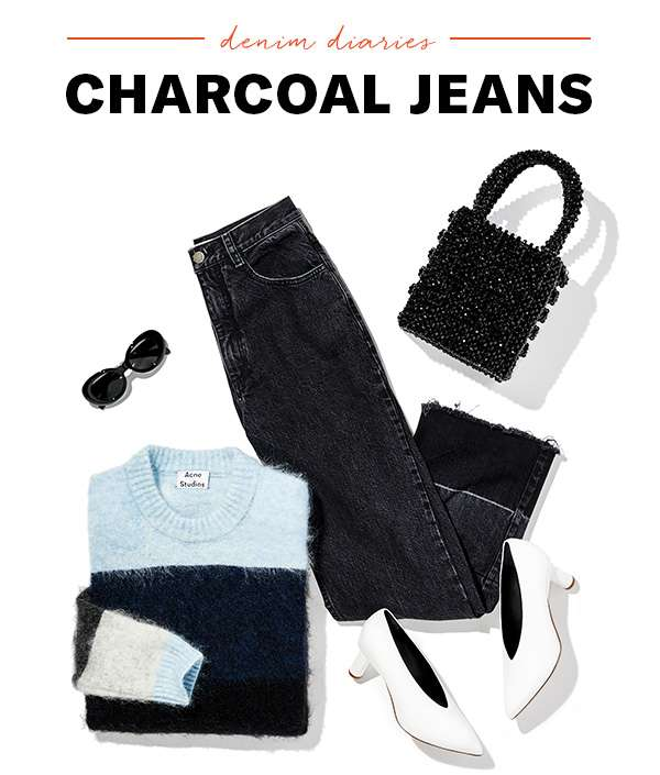 Inky-black denim is having a moment! How to wear the season's modern, versatile pairs.