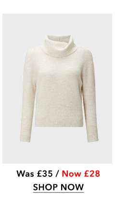 PETITE Ivory Funnel Neck Knitted Jumper