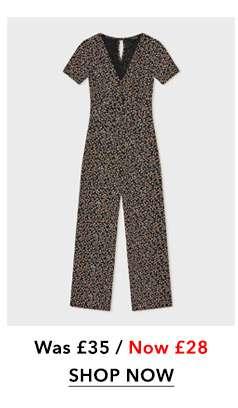 Floral Print Jersey Jumpsuit