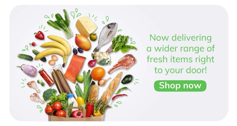 Now delivering a wider range of fresh items right to your door!