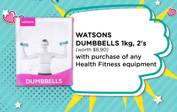 Watsons Health Fitness Equipment Free Gift with Purchase