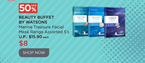 Beauty Buffet By Watsons Marine Treasure Facial Mask Range