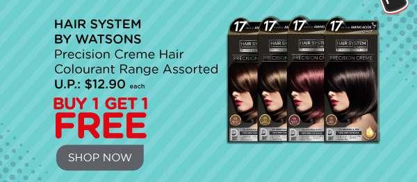 Hair System Precision Creme Hair Colourant Range