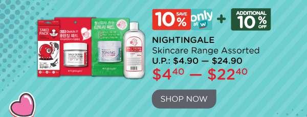 Nightingale Skincare Range