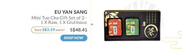 Shop Now: Eu Yan Sang Mini Tuo Cha Gift Set of 2 - 1 X Raw, 1 X Glutinous