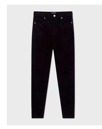 LIZZIE High Waist Skinny Black Corduroy Jeans