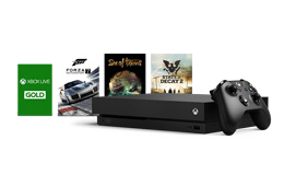 Buy an Xbox One X and save up to S$88 with a free 4K digital game and 40% off Xbox Live Gold 3-month subscription