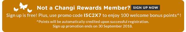Not A Changi Rewards Member? Sign Up Now.