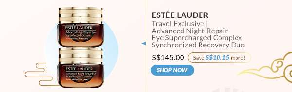 Shop Now: Estée Lauder Travel Exclusive | Advanced Night Repair Eye Supercharged Complex Synchronized Recovery Duo