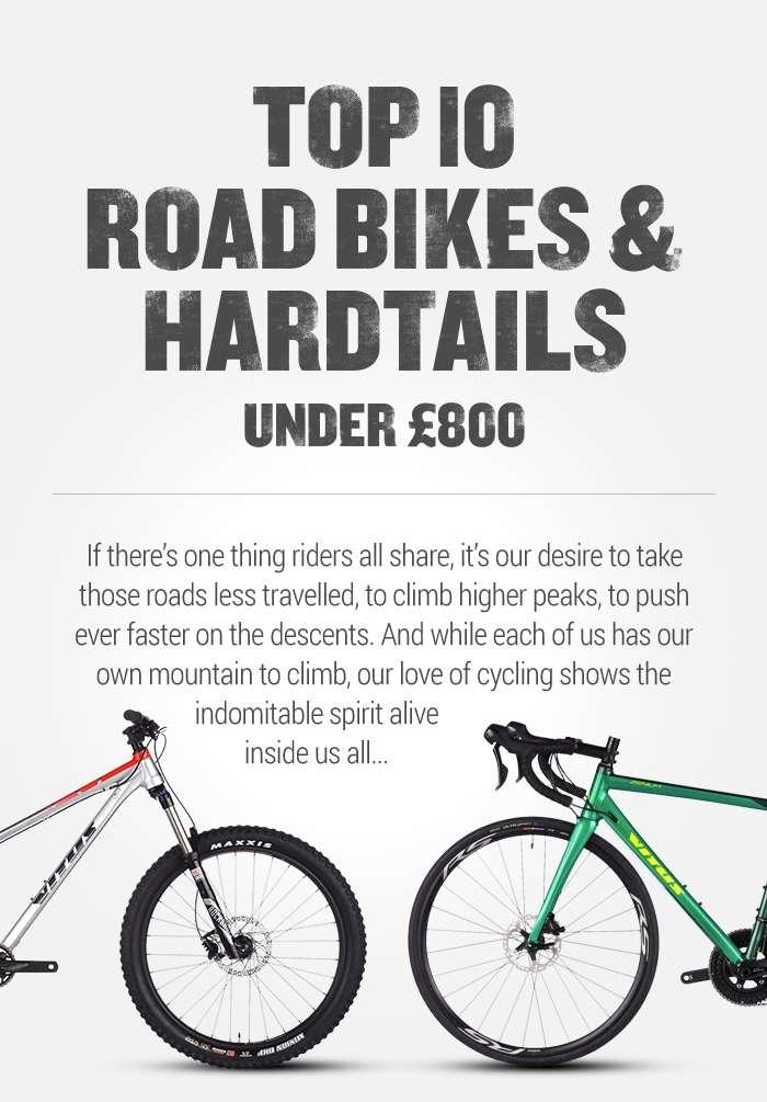 Top 10 Road Bikes & Hardtails