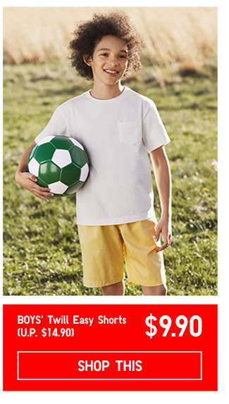 Limited offer! Shop Boys' Twill Easy Shorts at $9.90