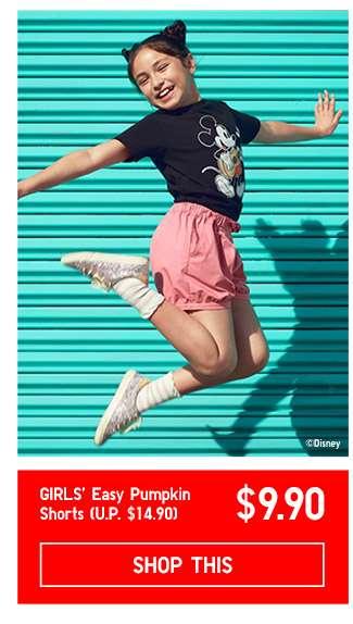 Limited offer! Shop Girls' Easy Pumpkin Shorts at $9.90