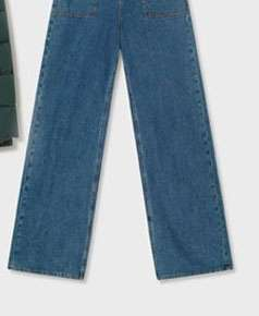 WIDE LEG Blue Denim Jeans