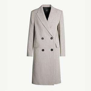 Genesis checked cotton and wool-blend coat