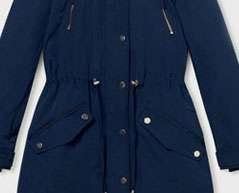 Navy 3 In 1 Parka Coat