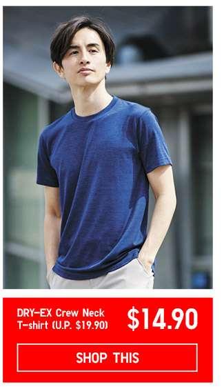 Limited offer! Shop Men's DRY-EX Crew Neck T-shirt at $14.90