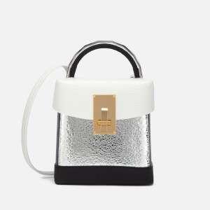 The Volon Women's Box Basic Bag - White & Silver