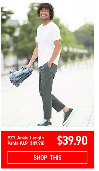 Limited offer! Shop Men's EZY Ankle Length Pants at $39.90