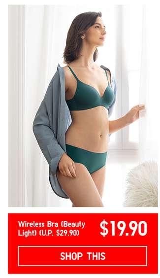 Limited offer! Shop Women's Wireless Bra (Beauty Light) at $19.90