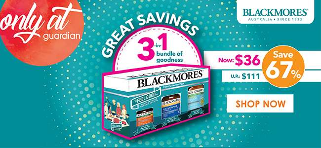 Great savings for Blackmores' 3-in-1 Bundle of Goodness! $36 only (U.P $111)