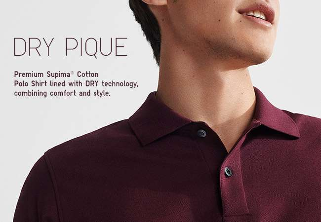 Men's Dry Pique Polo Shirt