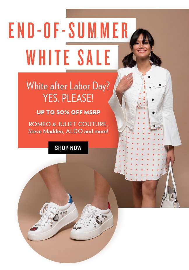 End of Summer White Sale