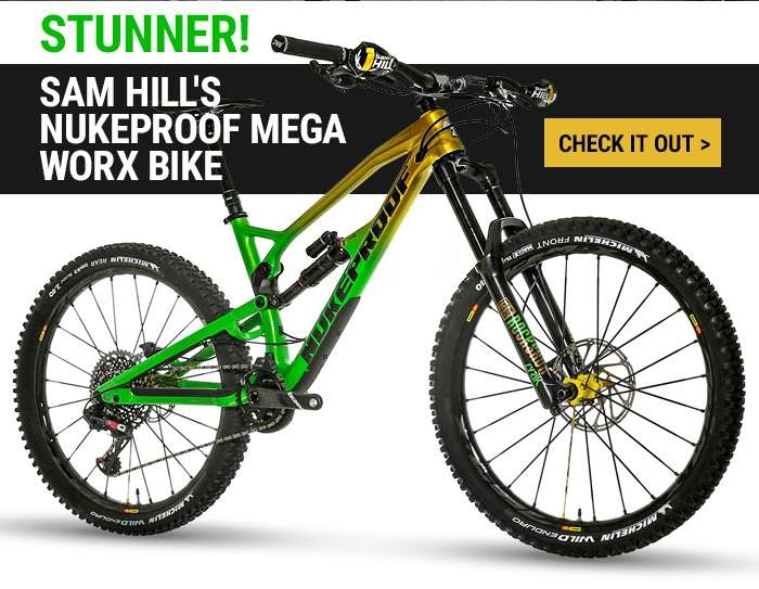 Stunner! Sam Hill's Nukeproof Mega Worx Bike