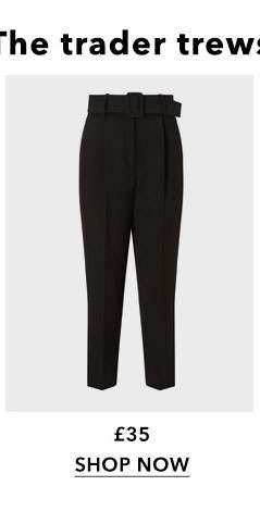 Belted Paper Bag Trousers