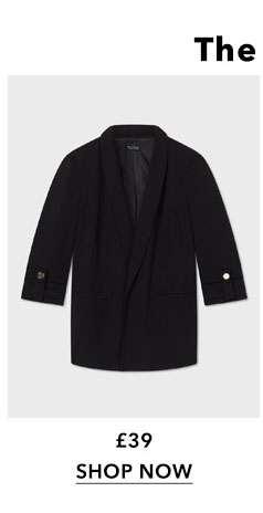 Black Tab Sleeve Blazer