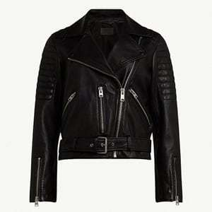 Balfern quilted leather biker jacket