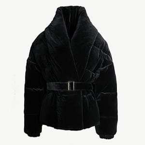 Velvet-down puffer jacket