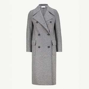 Longline wool military coat