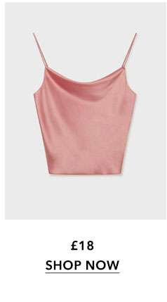 Blush Satin Cowl Neck Camisole Top