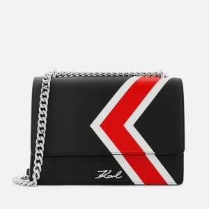 Karl Lagerfeld Women's K/Stripes Shoulder Bag - Black