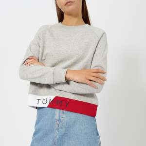 Tommy Hilfiger Women's Athleisure Electra Sweatshirt - Light Grey