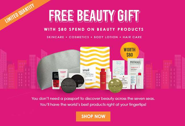 Click here to shop beauty products from all over the world!