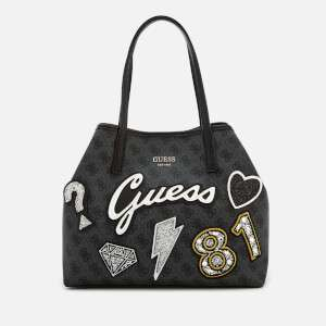 Guess Women's Vikky Small Tote Bag - Coal Multi