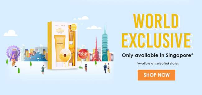 Click here to shop a WORLD EXCLUSIVE only available in Singapore!