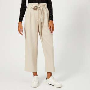 Whistles Women's Paper Bag Belted Trousers - Neutral